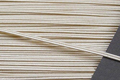 CREAM 3MM Original Viscose Soutache Braid Cord String Beading Sewing Quilting - Braid Cream