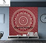 Indian Bohemian Tapestries Home Decorative Bedspread Wall Decor Blanket Cotton Quilt Bedsheet Quilts Mandala Psychedelic Wall Tapestries Throws Beach Blankets Indian Tapestries Yoga mat Cotton Bedding