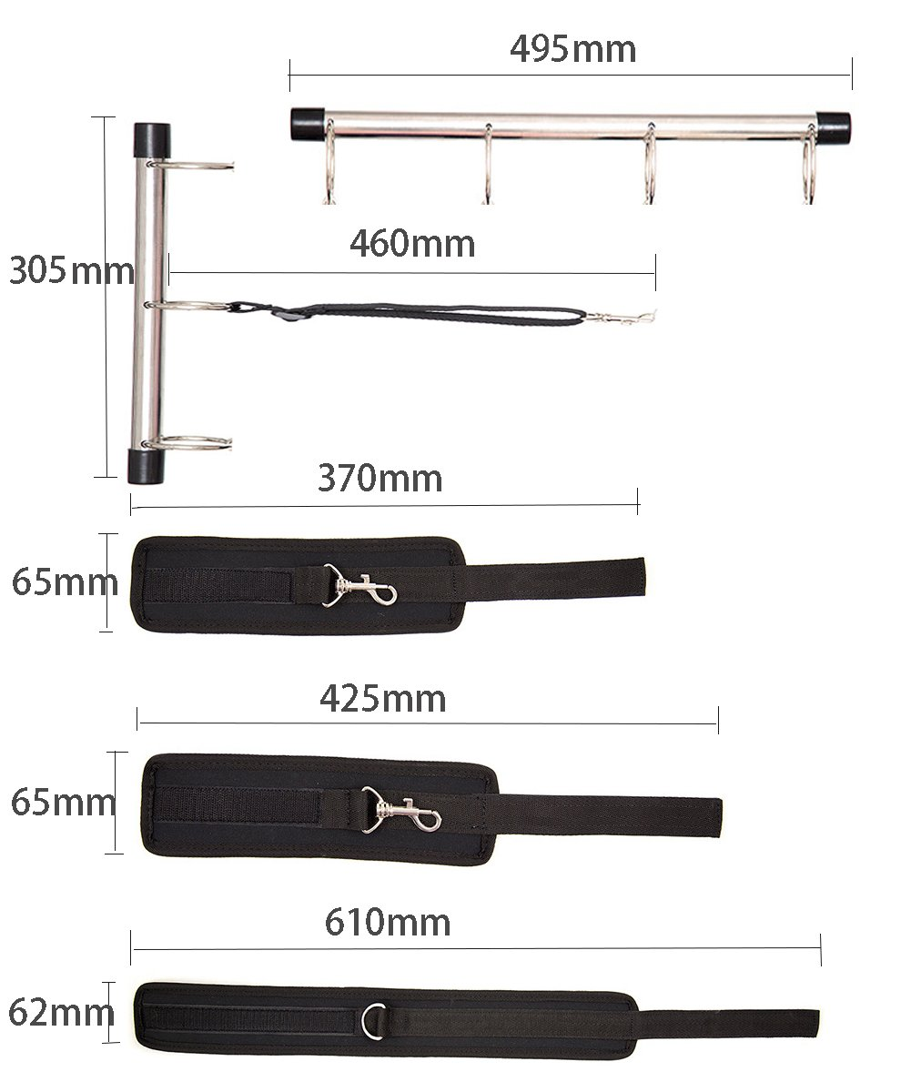 CANMIYOU Spreader Bar Position Master Thigh Spreader Adjustable Handcuffs Restraint Sports Training aid Tools for Legs for Couples Life