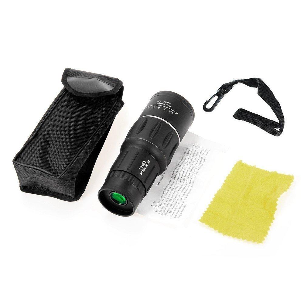 Monocular Compact Telescope, iBlood 16x52 Dual Focus Monocular Telescope Telephoto Lens for Hunting Camping Surveillance Binocular by iBlood