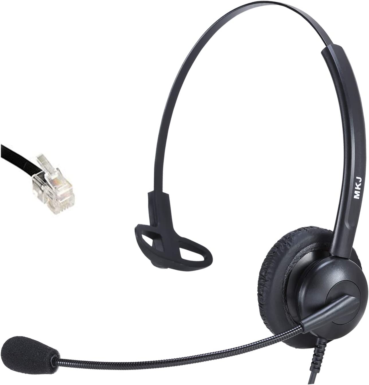 Call Center Telephone Headset Mono Office Phone Headset with Microphone for deskphone Avaya Aastra AudioCodes Atcom Fanvil Nortel