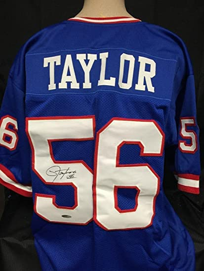 9c40b6f57 Image Unavailable. Image not available for. Color  Lawrence Taylor signed  custom BLUE jersey Tristar coa New York Giants autograph