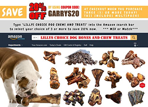Lilly's Choice Dog Bones for Large Aggressive Chewers - Made in the USA - Natural Mammoth Arm Bone from the Best America Grass Fed Hickory Smoked Meaty Whole Beef Femur Bone Chew Treats - (1 Pack) by Lilly's Choice (Image #2)