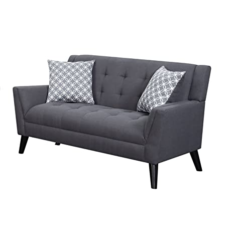 Amazon.com: Home Source U-16100-LV Dark Loveseat with 2 ...