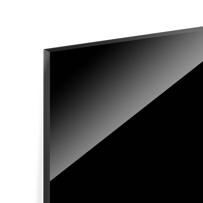 Colour Black Landscape 1:2 Dimension HxW: 40cm x 80cm Backsplash Cooker Splashback Protector Panel Decorative Splashback Panel Bilderwelten Glass Splashback
