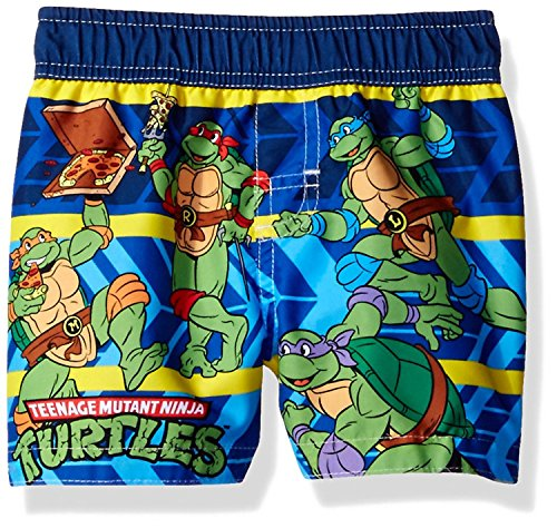 Nickelodeon TMNT Teenage Mutant Ninja Turtles Boys Swim Trunks Swimwear (18 Months, Turtles Navy Blue)