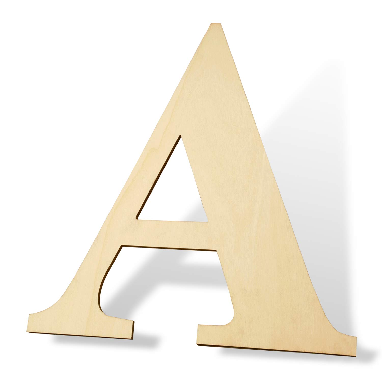 12 inch Wooden Letters A - Blank Wood Board, Wood Letters for Walls Decor, Party, DIY Craft Projects (12