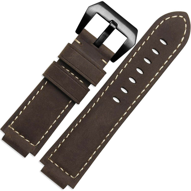 zhuolei本革時計バンド汎用for Timex t49859|t2 N720|t2p141|t2 N722|723|738|739 army green silver buckle B077K4VJQJ