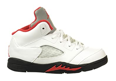 outlet store sale cd1b0 33c3f Jordan 5 Retro (TD)  quot Fire Red quot  Baby Toddlers Shoes White