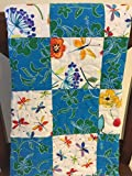 Hawaiian Fabric Quilt, Flowers, Dragonflies, Butterflies