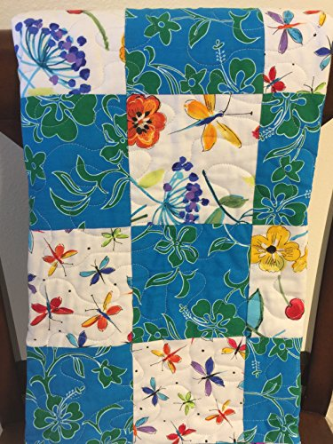 Hawaiian Fabric Quilt, Flowers, Dragonflies, Butterflies by StitchesSayItBest