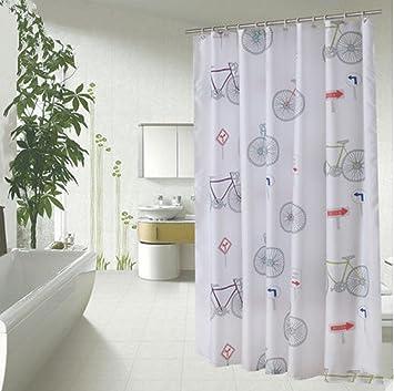 Rideau de douche blanche Rideaux Polyester mildewpr Matériau étanche ...