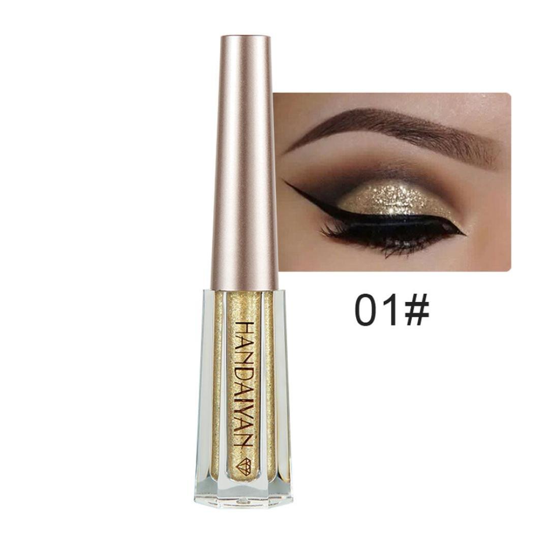 SMILEQ Metallic Shiny Smoky Eyes Eyeshadow Waterproof Glitter Liquid Eyeliner