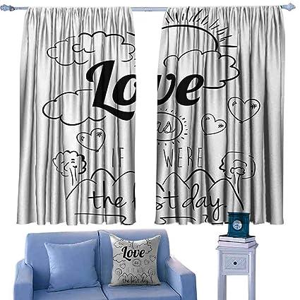 Amazon.com: CUKEZLS Kids Room Curtains Beautiful Pattern ...