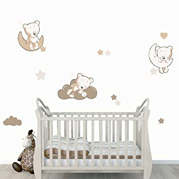 stickers oursons chambre b b my blog. Black Bedroom Furniture Sets. Home Design Ideas