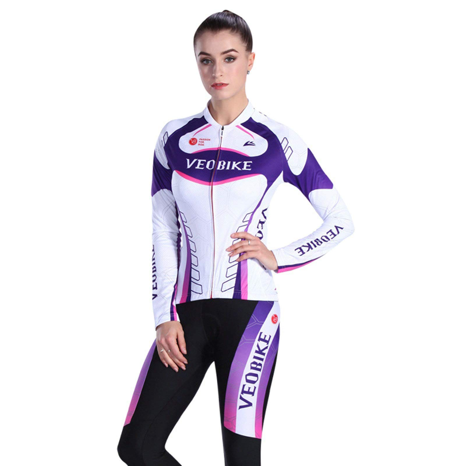 Aooaz Women Sports Clothes Pants Set Purple White Size S by Aooaz (Image #1)