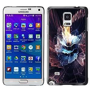 Paccase / SLIM PC / Aliminium Casa Carcasa Funda Case Cover para - Sun Sky Black Abstract Burst Explosion - Samsung Galaxy Note 4 SM-N910F SM-N910K SM-N910C SM-N910W8 SM-N910U SM-N910