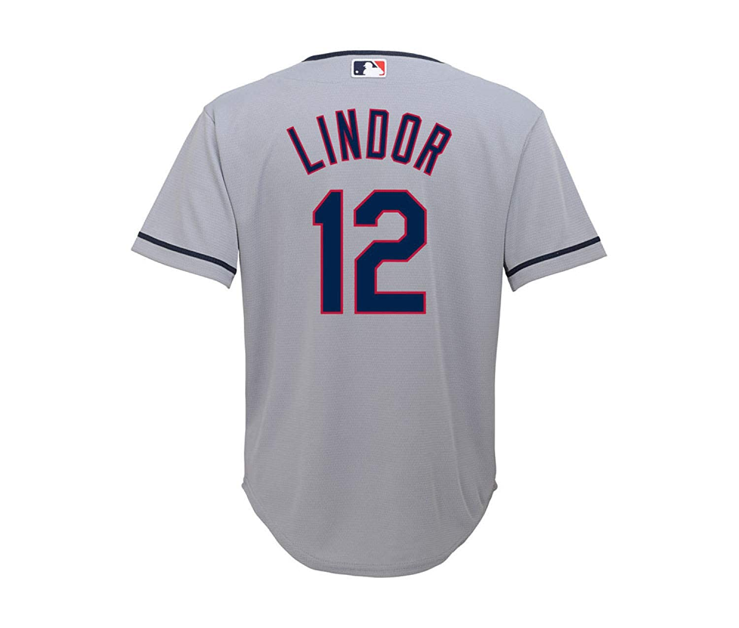 quality design 72f3f ae5f7 Outerstuff Francisco Lindor Cleveland Indians Gray Youth Cool Base Road  Replica Jersey