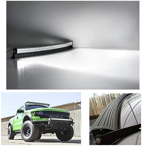 Barra LED Fuoristrada Rigidon Barra Luce a Led Curva 81cm 405W Combinazione di Fascio Spot e Inondazione Con Cablaggio 12V 24V Impermeabile Fari LED Luci da Lavoro Trattore Auto Veicoli 4x4 ATV