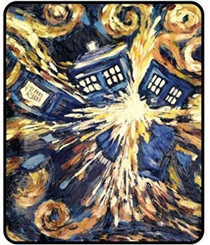 Micro Throw 50x60 Blanket Raschel (BBC Doctor Who Exploding TARDIS Pandorica Micro Raschel Throw 50 x 60)