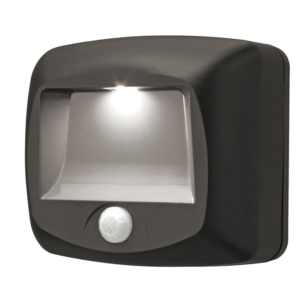 Mr. Beams MB520 Wirelsss Battery-Operated Indoor/Outdoor Motion-Sensing LED Step/Stair Light, Brown