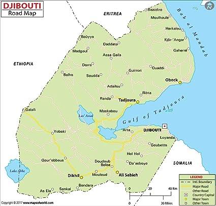 Amazon.com : Djibouti Highway Map (36\