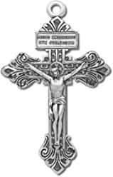 H&M Sterling Silver Large 2 1/8 Inch Pardon Crucifix