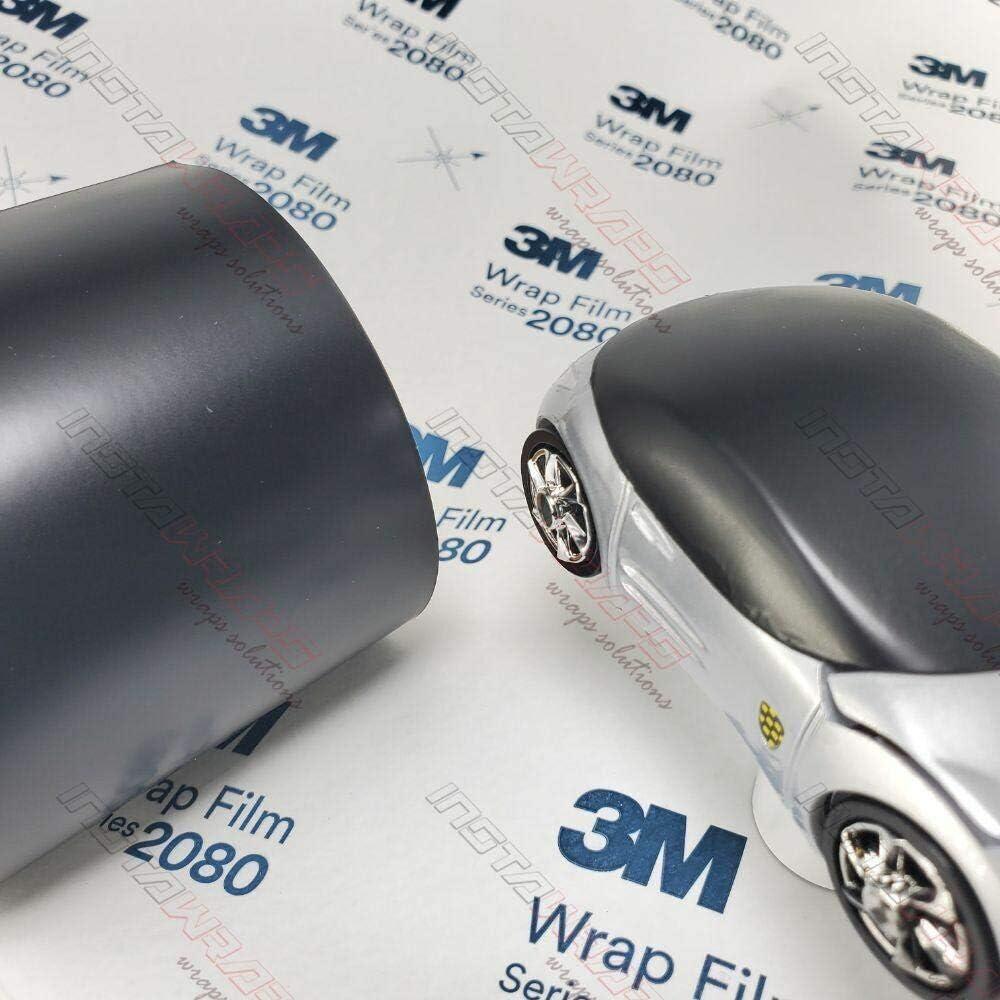 3M 1080 Satin Black   S12   Vinyl CAR WRAP Film (Sample 2.5in x 4in)