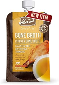 Merrick Grain-Free Bone Broth Dog Food Topper, 7 Ounces, Chicken, Made in The USA