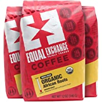 Equal Exchange Organic Whole Bean Coffee, African Roots, 12-Ounce Bag (Pack of 6)