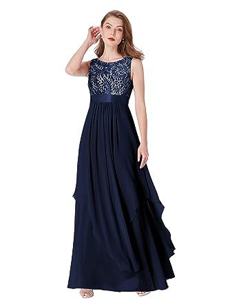 252a507889e Ever-Pretty Robe de Soirée Femme Élégante en Col Rond Empire 08217   Amazon.fr  Vêtements et accessoires