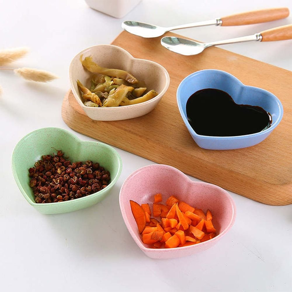 Amazon.com | Sauce Dish CHXIHome Sauce Plate, Heart Ceramic Sauce Dish/Seasoning Dish/Sushi Soy Dipping Bowl/Appetizer Plates/Serving Dish for Kitchen Home ...