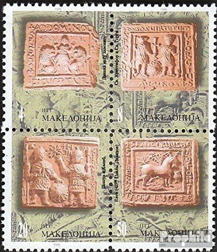 Prophila Collection Macedonia Michel.-No..: 78-81 Bloque de Cuatro Sellos para los coleccionistas 1996 Wandreliefs Completa.edici/ón.