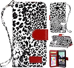 HTC One M8 Cases, HTC One M8 case, Leoaprd Wallet leather case for HTC One M8