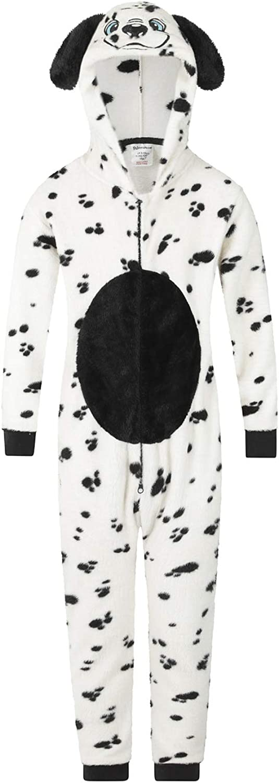 The PyjamaFactory Onesies Girls Dalmatian Matching Jumpsuit Playsuit Supersoft Fleece Baby