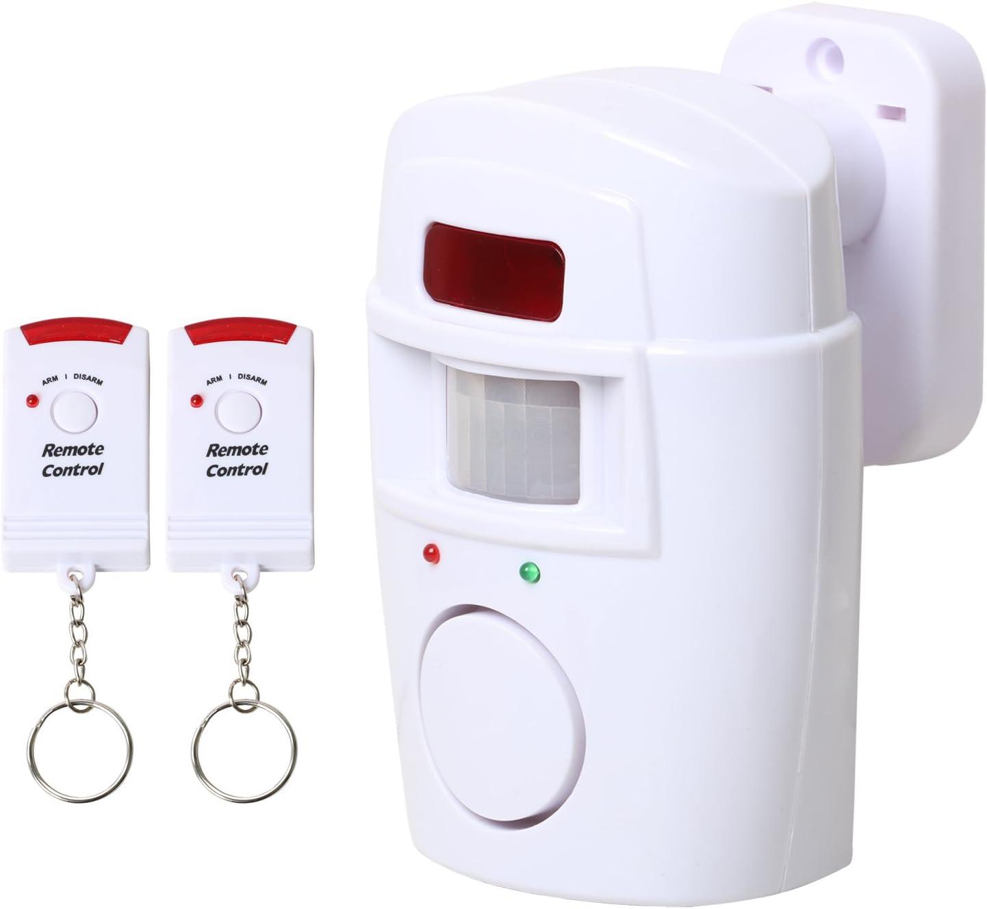 PIR Bewegungsmelder Alarm mit Fernbedienungen Batteriebetriebener für Garten