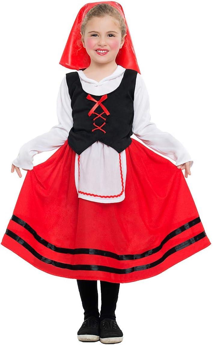 Disfraz de Pastorcita con falda roja para niña: Amazon.es ...