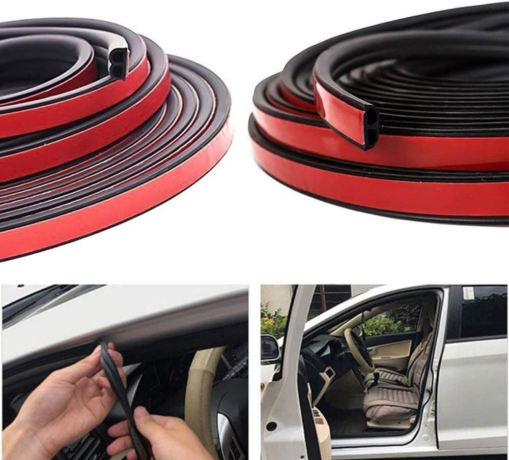 B Shape Black,10M ZLMC 32Ft Universal Car Weather Stripping,Self Adhesive Auto Rubber Weather Draft Seal Strip for Car Truck Window Door Sunroofs Engine Cover Noise Insulation