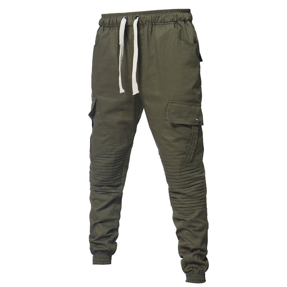 Spbamboo Mens Pants Sport Camouflage Pockets Casual Loose Drawstring Sweatpants by Spbamboo (Image #5)