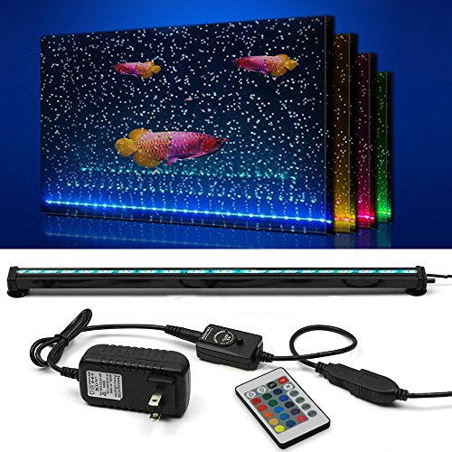 SZMiNiLED LED Fish Tank Light, 20.4 inch/52cm Aquarium Light kit Underwater Bubble Lights with ()