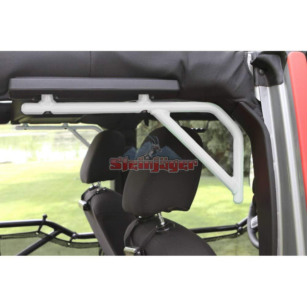 Steinjager 2007-2018 Jeep Wrangler JKU 4-Door Rear Grab Handle Set J0043593(Cloud White)