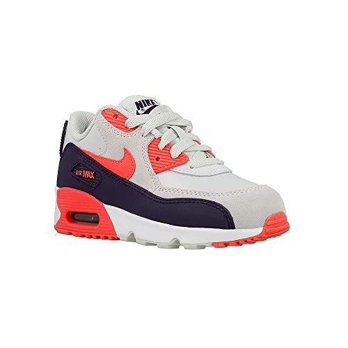 ca4ac019483 Nike Air Max 90 LTR (PS) girls running-shoes 833377-005 3Y - Pure Platinum Ember  Glow-Purple Dynasty  Amazon.ca  Shoes   Handbags