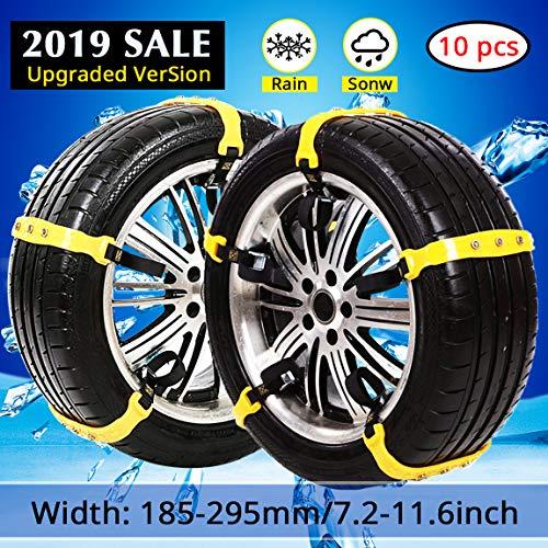 PrettyQueen Snow Chains for Cars TrucksSnow Tire Chainsfor SUVAnti Slip Tire Chain...