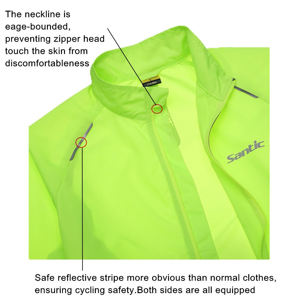 Santic Mens Cycling Skin Coat Jersey Bicycle Windproof Jacket Rain Coat