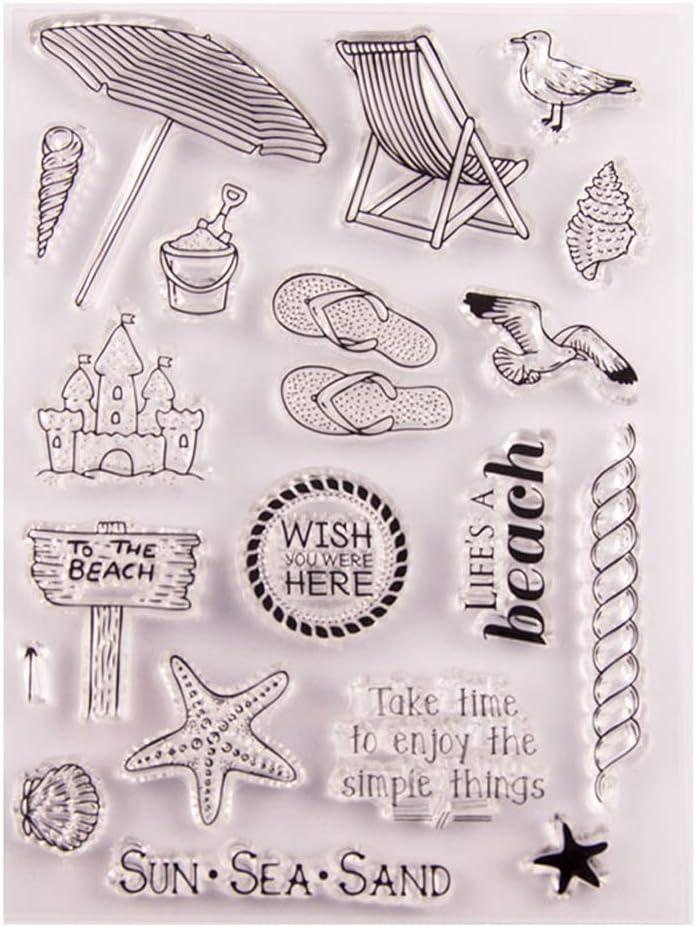 Transparente Hoja de sellos de silicona Impresión Estampado de ...