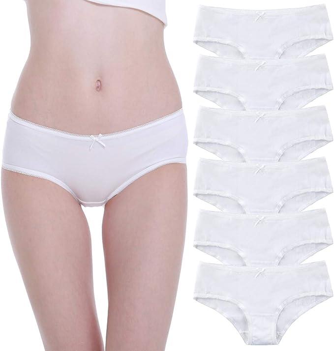 Falechay Braguita para Mujer Culottes Algodón Pack de 6 Bragas ...