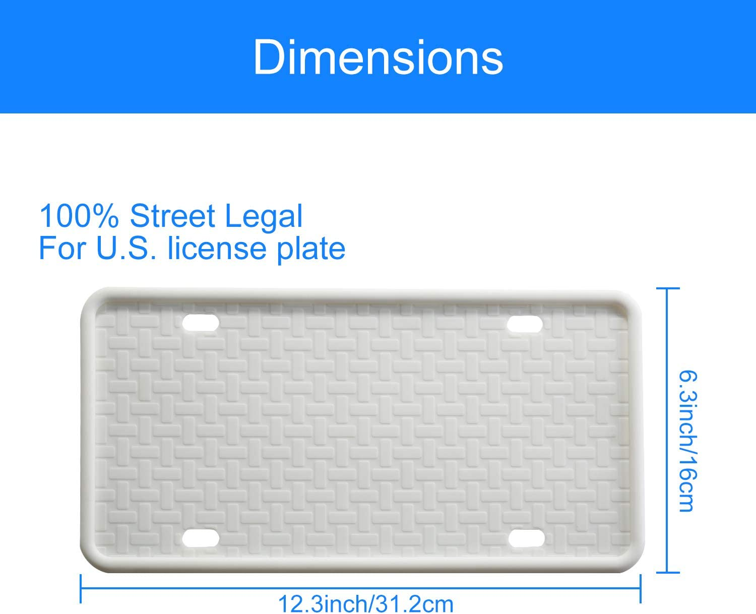 Rain-Proof Anti-Rust and Anti-Rattle Black Silicone License Plate Frame for Car License Plate Frame with Accessories