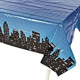 """Superhero Plastic Table Cover 54""""x108"""" by Fun Express"""