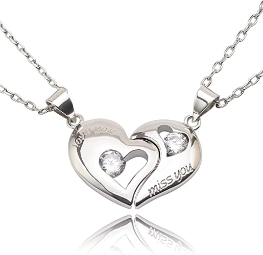 2Pcs Large Antique Silver Hammered Love Heart Pendants Jewelry Necklace Making