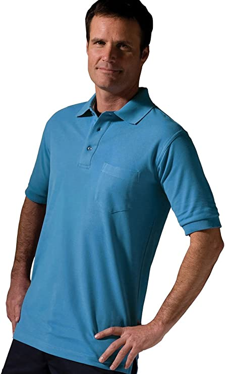 Edwards Garment Mens Big And Tall Wrinkle Resistant Polo Shirt/_MARINA BLUE/_5XLT